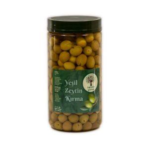 Taptaze Gömeç Yeşil Kırma Zeytin 1300 gr Pet